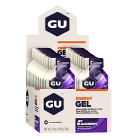 GU Energy Gel Sport Ernæring Jet Blackberry 24x 32g